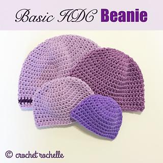 0fb2a03a0 Basic HDC Beanie Pattern pattern by Tia Davis - Ravelry