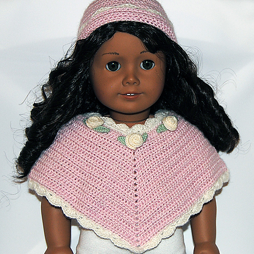 Ravelry American Girl Doll Clothes 30 Poncho And Hat Pattern By