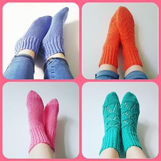 9d5f4b7fb Ravelry  Two-needle socks - 4 designs pattern by Caroline Gillett