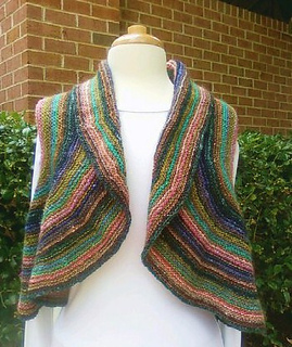 670450ba1e7 Ravelry   3 Striped Shrug pattern by Irina Poludnenko