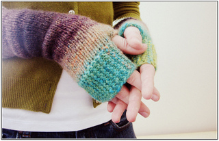 Camp Out Fingerless Mitts pattern by tante ehm