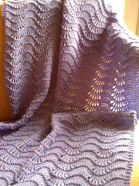 Ravelry Feather And Fan Baby Blanket Pattern By Joanne Turcotte