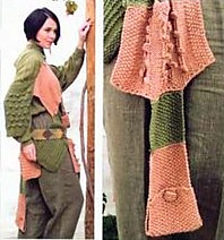 Ravelry Pico Valeta Square Buttoned Shawl Pattern By