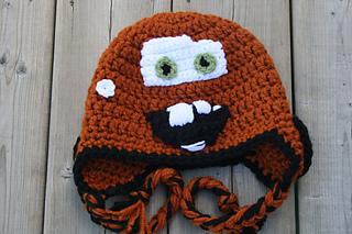 Tow Mater Inspired Hat Crochet Pattern Newborn Toddler