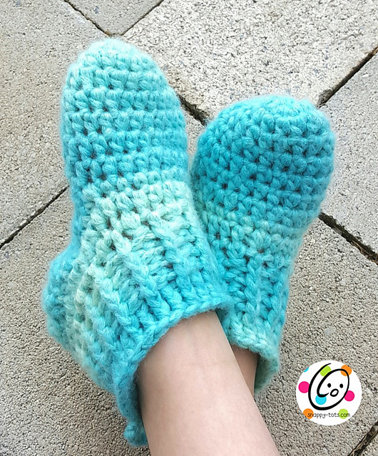 Ravelry Big Kids Happy Feet Slippers Pattern By Heidi Yates