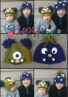 7cac5f022c3d9 Ravelry  Chunky Monster Beanies pattern by Heidi Yates