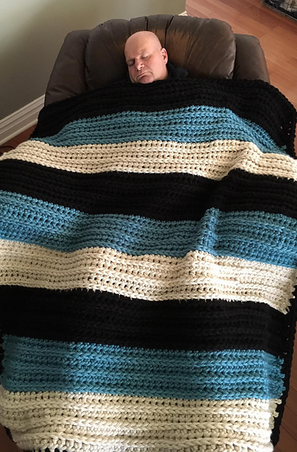 Ravelry Big Mans Weighted Blankie Pattern By Tracy Johnson