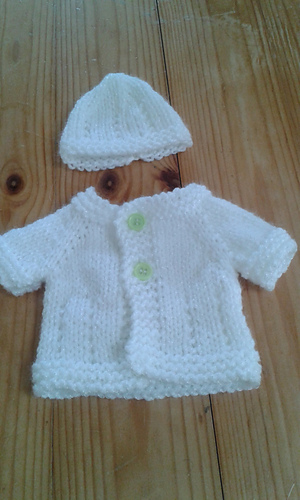 Ravelry 10 Quot Baby Jacket Amp Hat Pattern By Marianna Mel