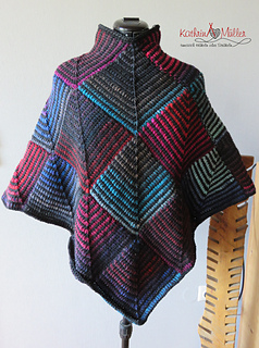 Ravelry Bunter Poncho Aus Patches Pattern By Kathrin Müller