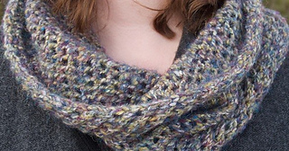 Lace Cowl and Headband pattern by Rebecca Gallop