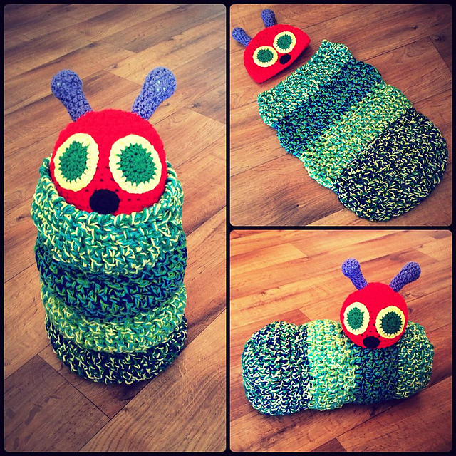Ravelry The Very Hungry Caterpillar Cater Kid Cocoon Pattern By