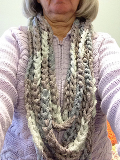 Easy Beginner Infinity Scarf Cowl Chain Method With Youtube Video
