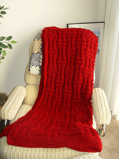 Ravelry: Quick Knit Basketweave afghan pattern by Carole Prior
