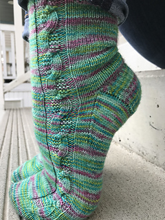 1197010a754cc Curious Cable Socks pattern by Two Birds Knitting Co.