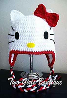 Ravelry  Hello Kitty Hat pattern by Two Girls Boutique 9ae80f2e645
