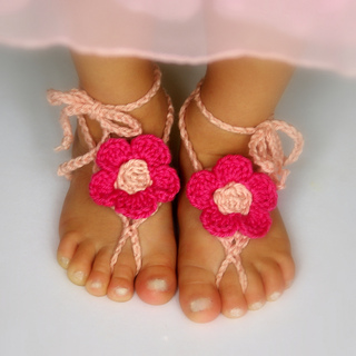 99a7c44e6a27 Ravelry  Barefoot Sandals Baby and Toddler pattern by Lorin Jean