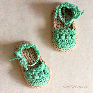 Crochet Baby Elf Slippers Pattern Free : Ravelry: Baby Sandals Espadrille Shoe Booties pattern by ...