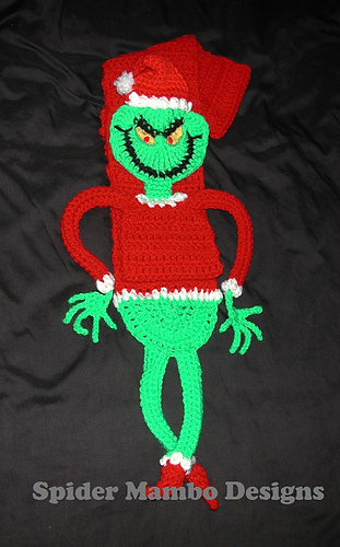 Crochet Grinch Scarf Pattern | 500x311