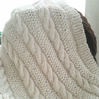 be5f65b3d6 Ravelry  Cable Knit Baby Blanket Pattern pattern by LD McKenzie
