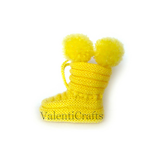 962f2dfa0 Ravelry  Yellow baby booties pattern by Valenti Crafts