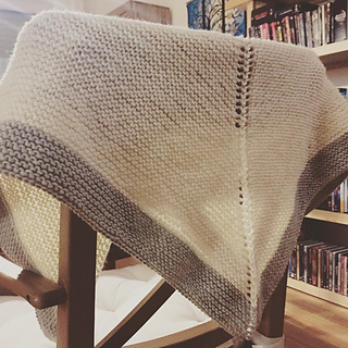 Ravelry Very Simple Garter Stitch Shawl Pattern By The