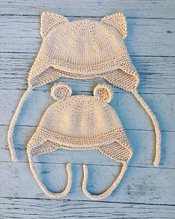 8b35b49f Cat and Bear Hats pattern by Vanessa Ewing