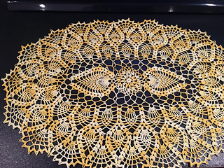 Ravelry Oval Pineapple Doily Pattern By American Thread Company