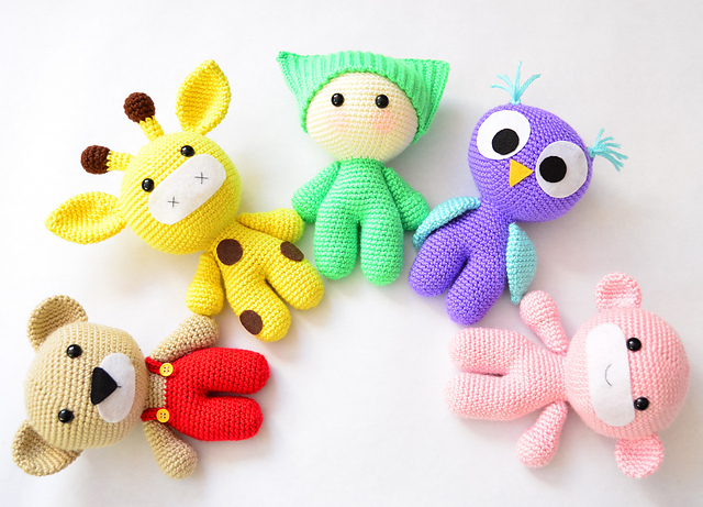 Ravelry Amigurumi Baby And Animals Pattern By Veronica Kay Crochet