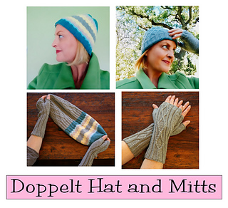 8907b0cd2 Ravelry  Doppelt Hat and Mitts pattern by Staci Perry