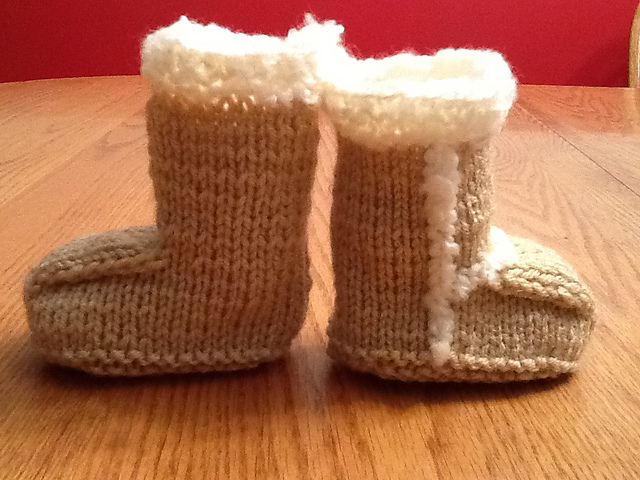 Suede Baby Booties by Candi Jensen