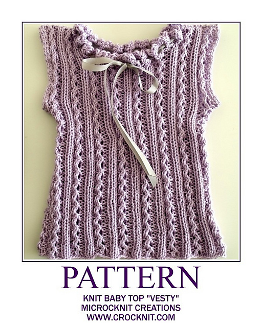 Ravelry Knit Baby Top Vesty Pattern By Barbara Summers
