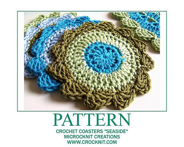 Ravelry Crochet Coasters Seaside Pattern By Barbara Summers