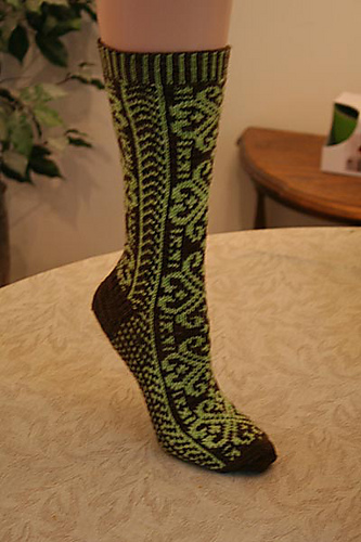 Ravelry Norwegian Rose Socks Pattern By Wendy D Johnson