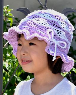 e65afde1728 Ravelry  Purple Wave Cotton Sun Hat pattern by Christy Hills