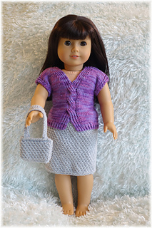 Ravelry American Girl Cable Top Skirt And Purse Pattern