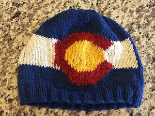 1640e6e3204adf Ravelry: Colorado Flag Hat pattern by Genevieve Krzeminski