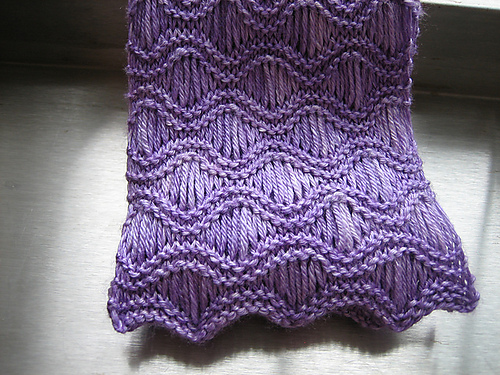Ravelry Shimmer Wave Scarf Pattern By Kate Hiester