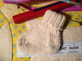 Ravelry Baby Socks Worsted Dk Version Pattern By Kate Atherley