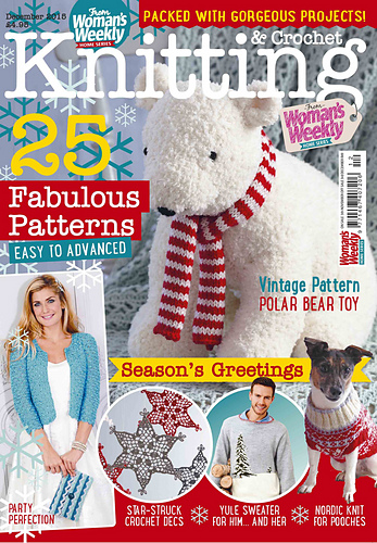 Ravelry Womans Weekly Knitting Crochet December 2015 Patterns