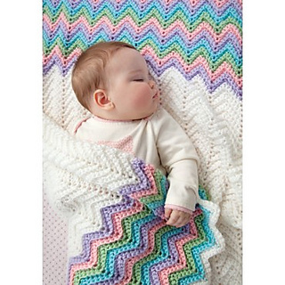 Rickrack Rainbow Baby Blanket pattern by Red Heart     - Ravelry