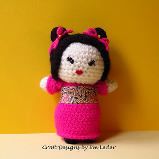 Advanced Amigurumi Shapes : Ravelry: Amigurumi Japanese Maiden pattern by Eve Leder