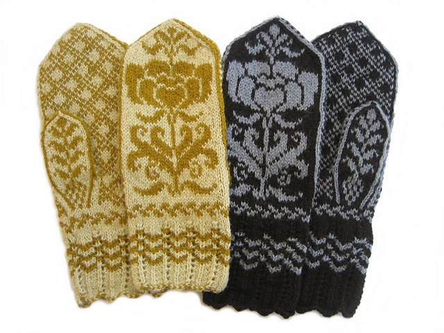 Ravelry Midwinter Rose Mittens Pattern By Marit Trudvang
