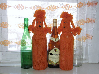 Ravelry Retro Poodle Bottle Cover Pattern By Erika Knight