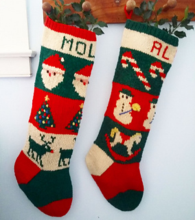 ravelry 24 traditional christmas stockings pattern by melinda