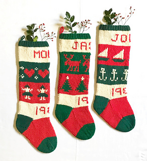 54a2ebe86aea Ravelry   10 Classic Christmas Stockings pattern by Melinda Goodfellow