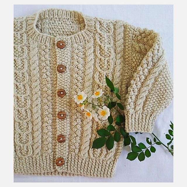 b1dfc5a67f55 Ravelry   19 Child s Aran Sweater pattern by Melinda Goodfellow