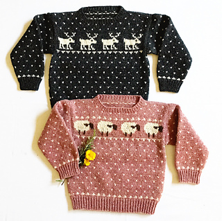 bb715cd70419 Ravelry   01 Child s Sheep   Reindeer Sweaters pattern by Melinda Goodfellow