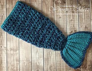 Ravelry 18 Quot Doll Mermaid Tail Blanket Pattern By Yvonne Metz