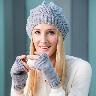 Ravelry  Simple lace slouchy beanie pattern by Elaine van Wyk 40f9e98e075