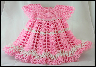 Ravelry Baby Dress Shells And Lacy Dress Pattern By